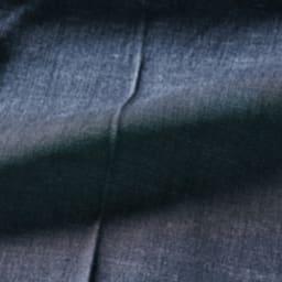 リヨセル混 センタープレス デニム風パンツ (イ)インディゴ 生地アップ