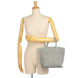 NAGATANI/ナガタニ 素材コンビ トートバッグ 着用例