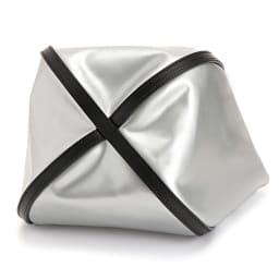 THOROUGH BRACE/サラブレイス 牛革 デザイン バッグ (エ)シルバー BOTTOM
