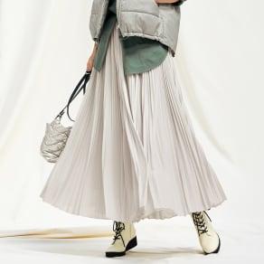 マキシ サーキュラー風 プリーツスカート 写真
