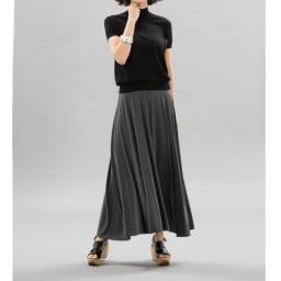 モダールベア天竺 サーキュラー風 スカート コーディネート例