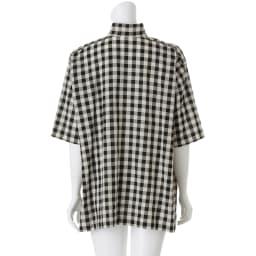 bx/ビーエクス ギンガム オアカラー ビッグシャツ