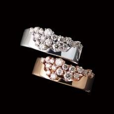K18 0.5ctダイヤ デザインリング