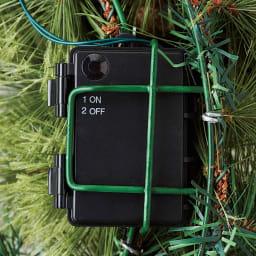 LEDライト付き X'masリース 裏側電池ボックス