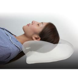 自然体で眠れる枕 基本セット(本体+カバー1枚付き) 首の隙間を埋めてくれる立体構造