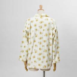 綿毛布シャツパジャマ(日本製) (イ)クリーム・・・シャツBACK