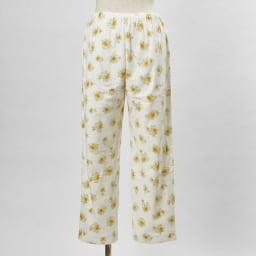 綿毛布シャツパジャマ(日本製) (イ)クリーム・・・パンツFRONT