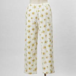 綿毛布シャツパジャマ(日本製) (イ)クリーム・・・パンツBACK