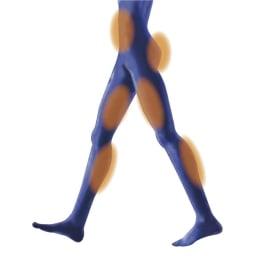 スリムルームステッパー [POINT1] 筋肉への負荷が大きいので短い時間で効率的にエクササイズ 筋肉使用量・運動効率をウォーキングと比較した試験では、短時間でより効率的な運動効果が期待できるという結果に。