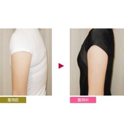 姿勢インストラクター  トップス 半袖 着ることで筋肉バランスを整える たすき状のクロスパワーネットが整った姿勢に導き、筋肉バランスをサポートします。(※個人差があります。)
