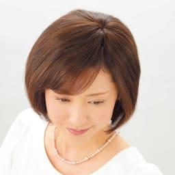 ミニつむじヘアピース (レギュラー) (イ)栗色
