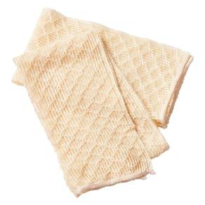シルク美容洗浄タオル2枚組 写真