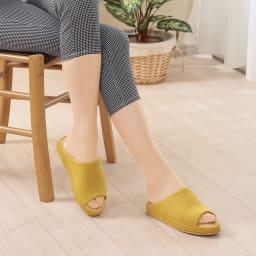 あとりえOKADA 靴屋が作った洗えるルームシューズ (ウ)イエロー