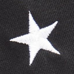 CONVERSE/コンバース ホームウエア リラックスフレアワンピース セットアップ、ワンピともに星のマークとブランドロゴの刺繍がアクセントに。