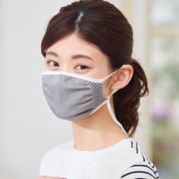 飛沫対策マスク (同色3枚組) (エ)グレー コーディネート例