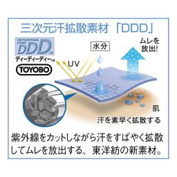 風が通るUVクロッシェ ※ディーディーディーTMは、東洋紡の持つ紡糸技術により実現した特殊断面ポリエステルフィラメントです。
