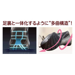 RakkuRakku/ラックラック 空飛ぶ プレーンパンプス 足裏と一体化するように「多曲構造」!