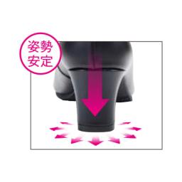 Conscious walk/コンシャスウォーク コンフォート レザーパンプス 姿勢をまっすぐ支える太めのスクエアヒール