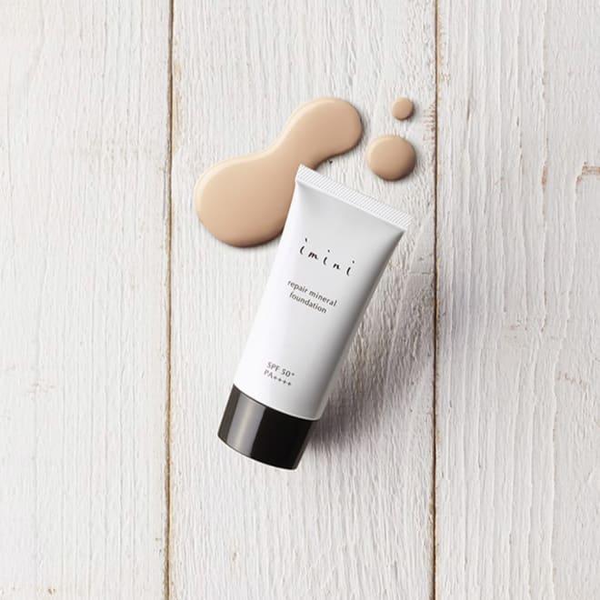 imini/イミニ リペアミネラルファンデーション 30g 年齢肌をカバーする美容液ファンデ