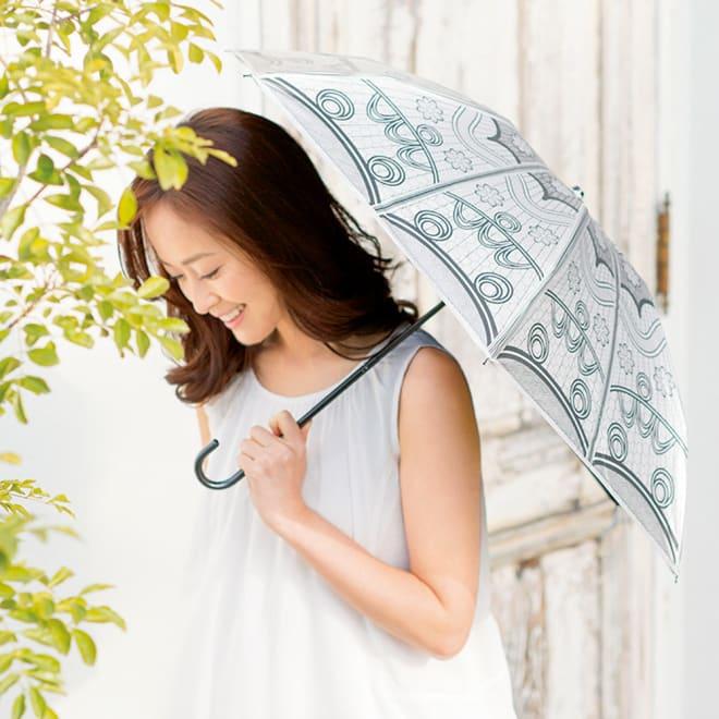 遮光涼感UVコンパクト日傘 コーディネート例