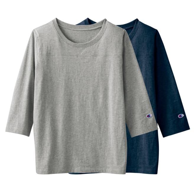 チャンピオン/Champion コットンシャツ フットボール7分袖Tシャツ 2枚組