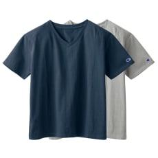 チャンピオン/Champion コットンシャツ Vネック半袖Tシャツ 2枚組