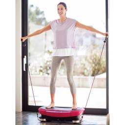 DOCTORAIR/ドクターエア 3D スーパーブレードプロ 足元が振動している状態で負荷をかけることで、体幹&全身のバランストレーニングに。