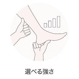 シンカ フットマッサージャー ふくらはぎと足裏にあたるもみ玉の強さをお好みに合わせ4段階で調節できます。
