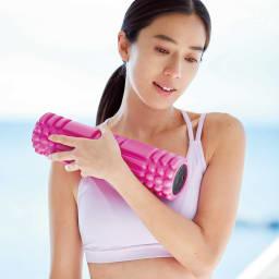 DOCTOR AIR/ドクターエア 3Dマッサージロール (イ)ピンク コリ固まったカラダを奥まで届く振動で解きほぐす!