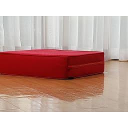 パーフェクトエクサ(R) 厚みを極力おさえ、跳ぶ動作でも高さを感じないように設計しました(高さ約14cm)タテヨコ50cmの正方形がご自宅のジムスペースに