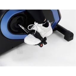アルインコ/ALINCO プログラムバイク AFB6319 足の踏み外しを防止するペダルバンド付き。