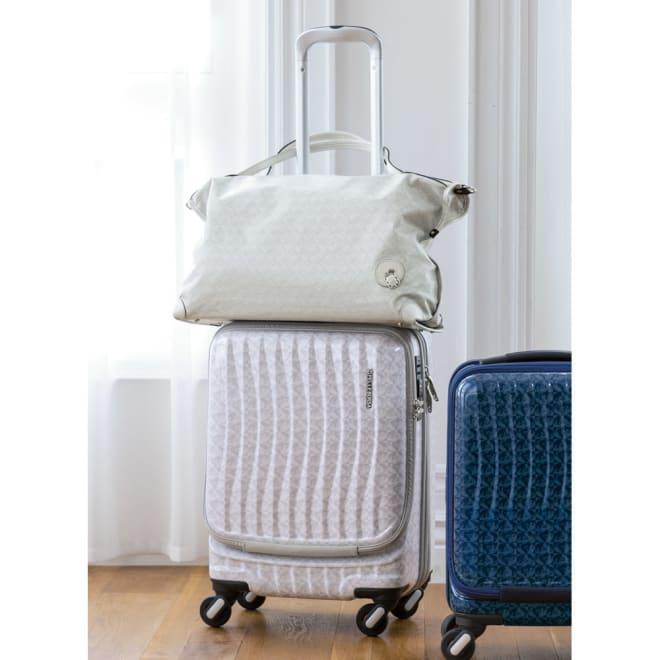 PELLE BORSA/ペレボルサ キャリーケース 機内持ち込みサイズ 容量34L (ア)ホワイト ※写真のボストンバッグは商品に含まれません。