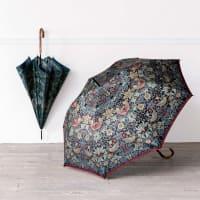 V&A モリス〈いちご泥棒〉ジャカード生地晴雨兼用傘 長傘