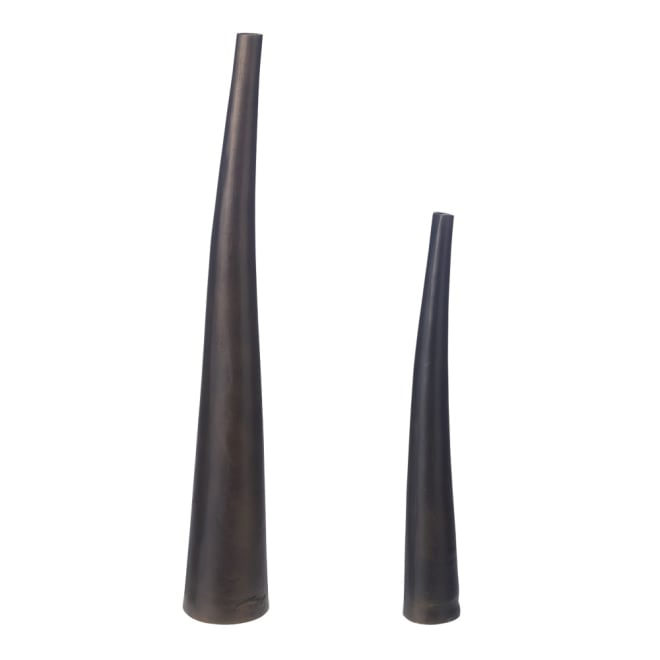 アルミニウムホーンアレンジメント 花器単品 ※左から高さ84cm、高さ60cm