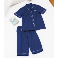 総和ざらし2重ガーゼ 半袖パジャマ(上着&パンツ) メンズ・レディース