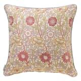 モリス ジャカード織クッションカバー〈ピンク&ローズ〉60×60cm用