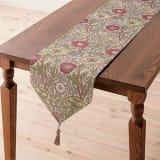 約30×180cm モリスデザインスタジオ ジャカード織テーブルランナー ピンク&ローズ 写真