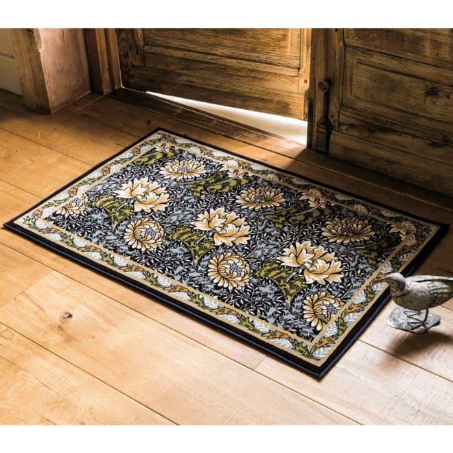 ベルギー製モリスデザインスタジオ ウィルトン織マット クリサンセマム ※写真は約60×90cmタイプです。