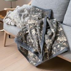 ピュア・モリス コットン/ウール毛布(毛羽部分)〈ピュアロデン〉 約140×200cm