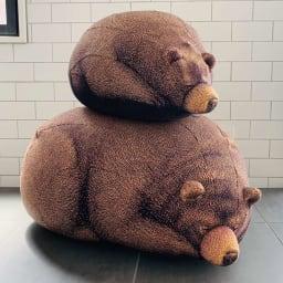 クマのビーズクッション 大 ※お届けは下段の大サイズです。