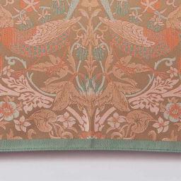 V&A モリス〈いちご泥棒〉ジャカード生地晴雨兼用傘 長傘 (ウ)ベージュ/オレンジ 明るいカラーで表現された〈いちご泥棒〉も新鮮。