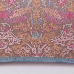 V&A モリス〈いちご泥棒〉ジャカード生地晴雨兼用傘 長傘 (エ)ベージュ/ピンク 明るいカラーで表現された〈いちご泥棒〉も新鮮。
