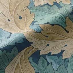 モリスギャラリー カバーリング〈アーカンサス〉 マルチカバー 約200×200cm (イ)グリーン