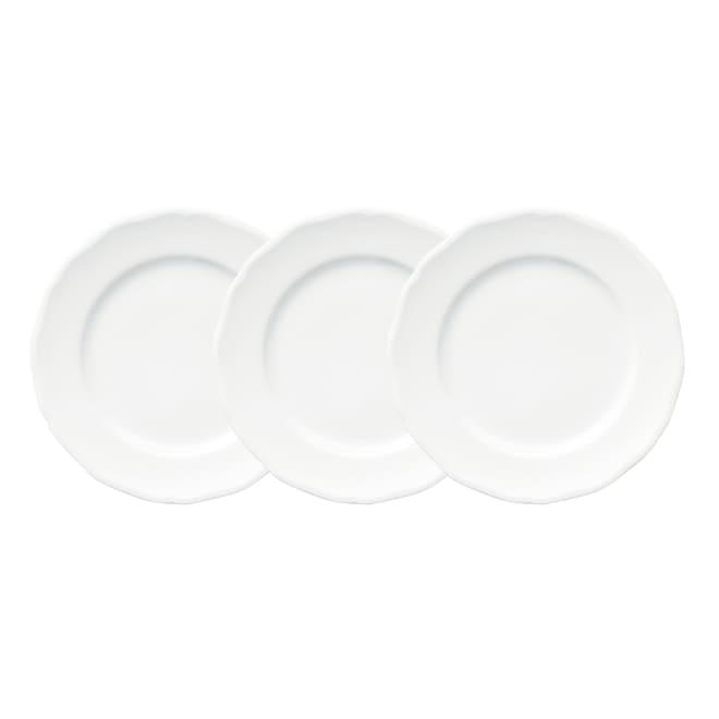 オードブルスタンド用 お皿3枚組(直径19cm) 縁のフリル形状が美しいぴったりサイズのお皿(3枚組・直径19cm)