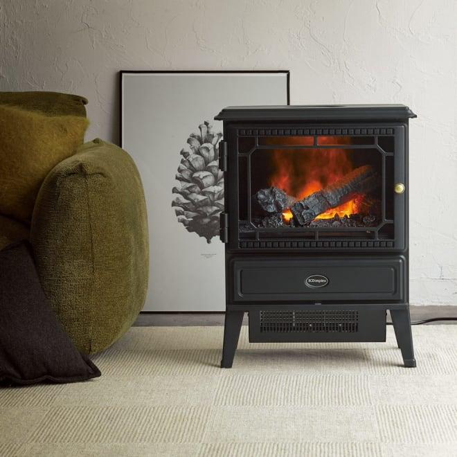 ディンプレックス 暖炉型ファンヒーター グラスゴー (ア)ブラック