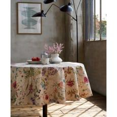 スペイン製リネン調はっ水テーブルクロス〈ボタニコ〉 写真