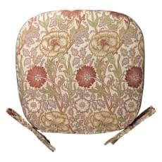 モリスデザインスタジオ ジャカード織シートクッション〈ピンク&ローズ〉