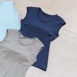 カップ付きフレンチTシャツ 1枚 (イ)ネイビー