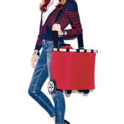 ライゼンタール キャリークルーザー(容量40L) パッド付きのストラップで肩掛けもラクラク。階段時などに便利。