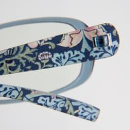 フィルストン UV&ルーライトカット リーディンググラス(男女兼用) スクエア型 柄入り (ウ)ブルーフラワー